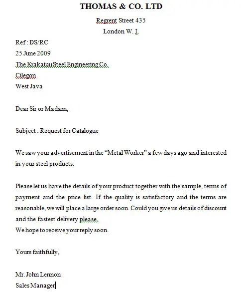 2. Contoh Surat Penawaran Produk Dalam Bahasa Inggris