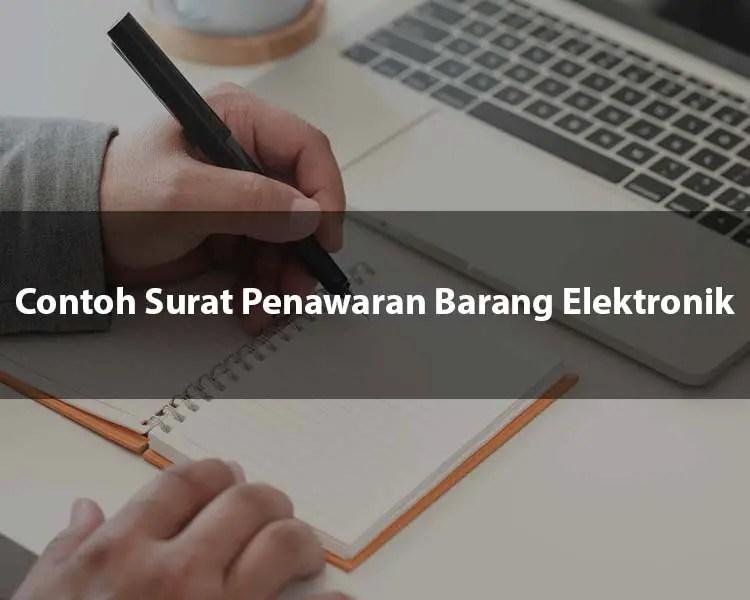 Contoh Surat Penawaran Barang Elektronik
