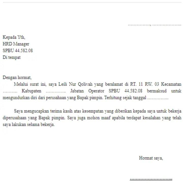 31++ Contoh surat pengunduran diri habis kontrak terbaru yang baik
