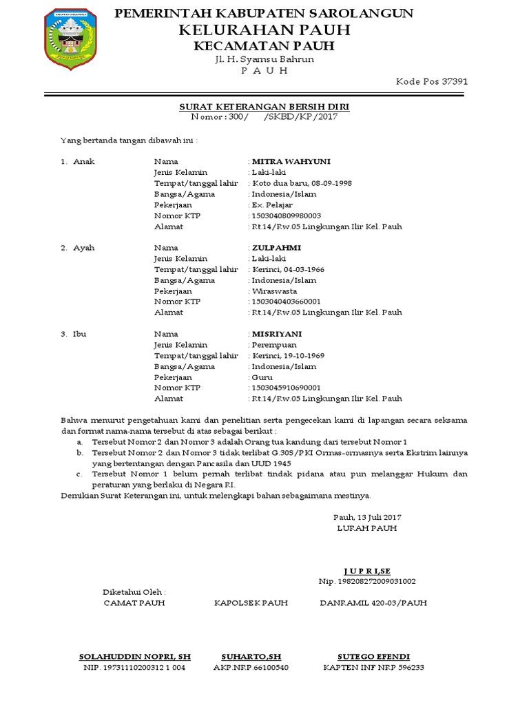 16 Contoh Surat Pernyataan Diri Terlengkap dan Terbaru ...