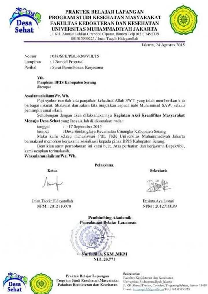 Surat Permohonan Kerjasama dengan Instansi Pemerintah