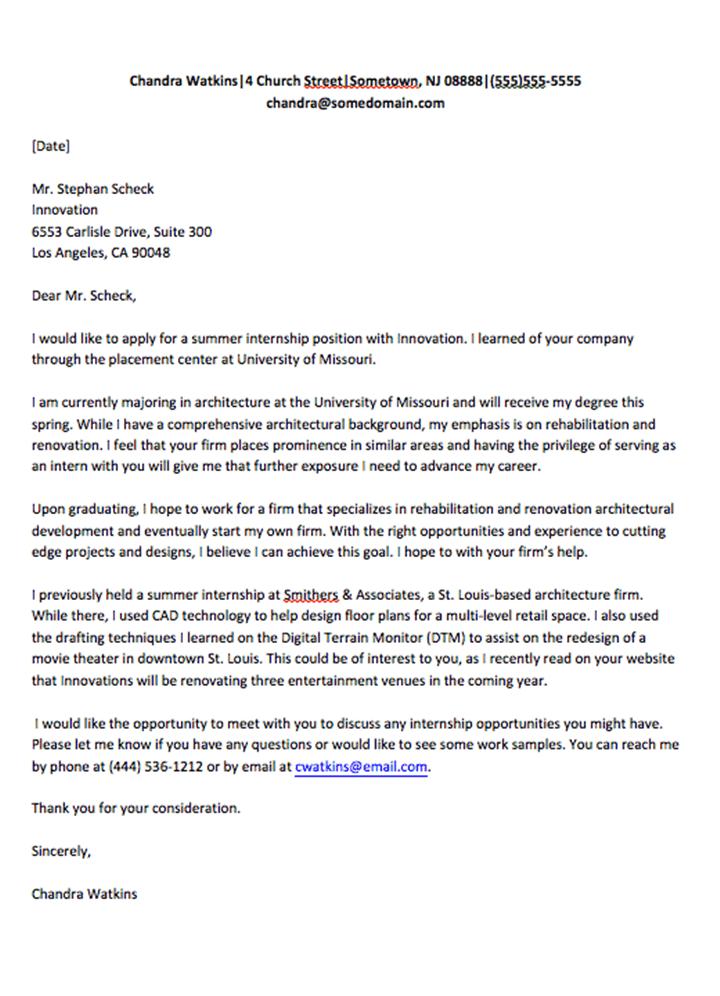 Surat Permohonan Magang Bahasa Inggris