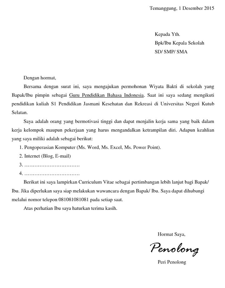Surat Permohonan Magang Guru