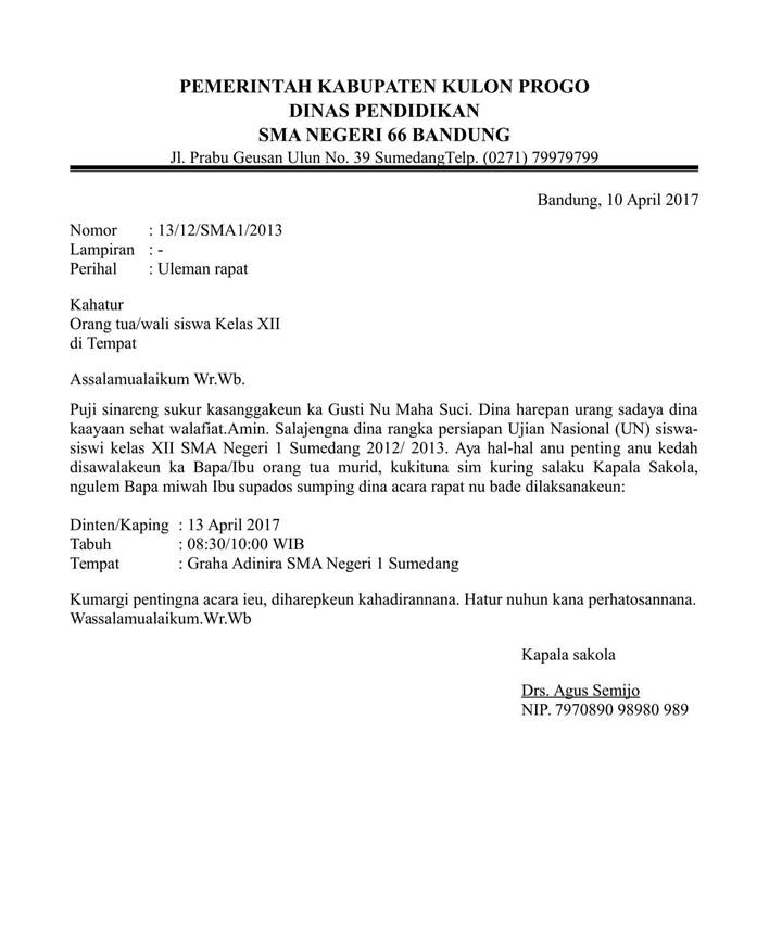 Surat Resmi Bahasa Sunda
