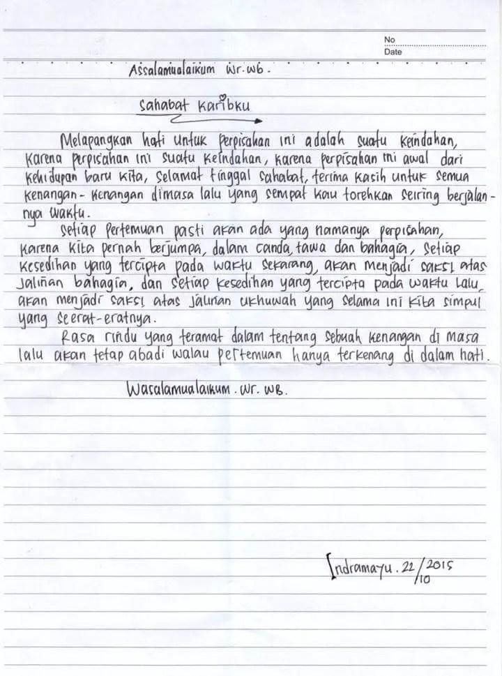 Surat Untuk Teman Sekelas