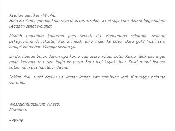 15. Contoh Surat Untuk Sahabat Tentang Liburan