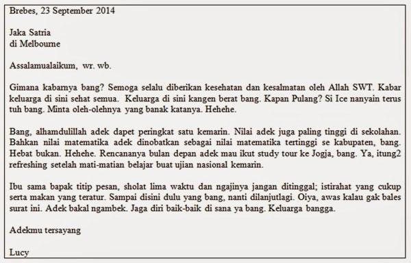 4. Contoh Surat Pribadi Untuk Sahabat Pena