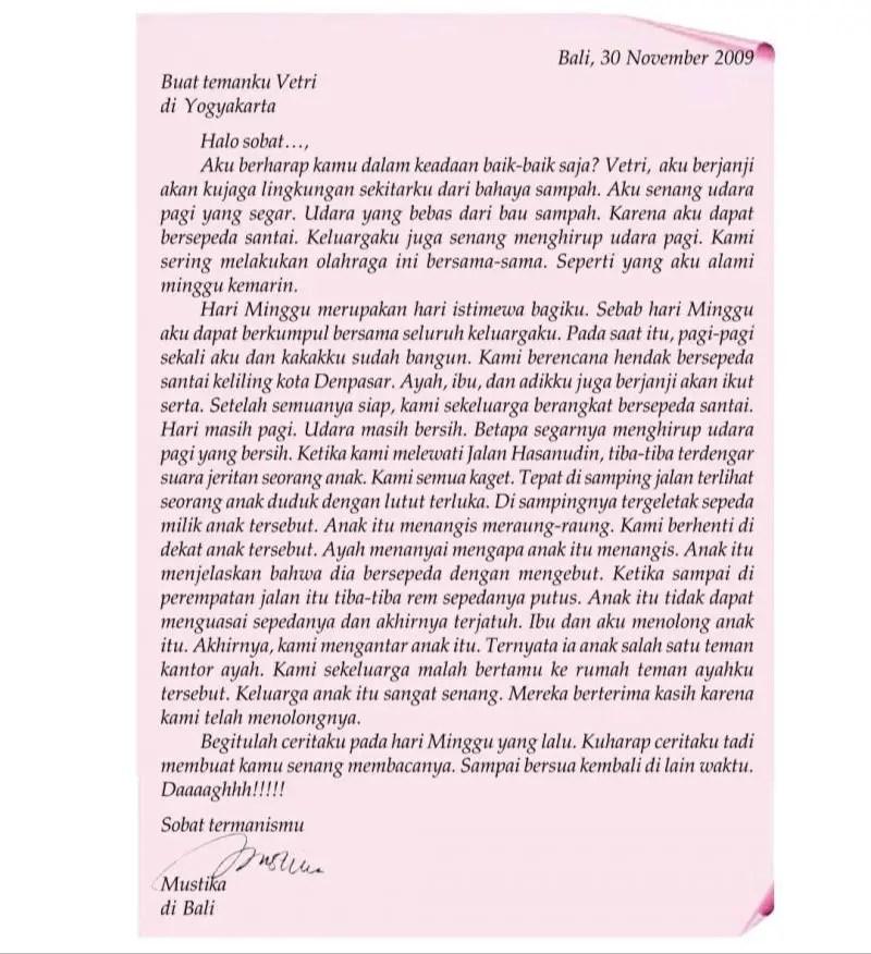 9. Contoh Surat Pribadi Untuk Keluarga
