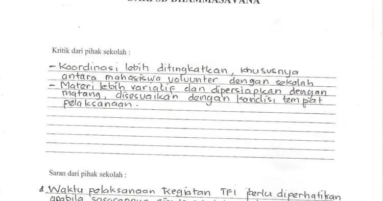 5. Contoh Surat Pembaca Berupa Saran Kepada Sekolah
