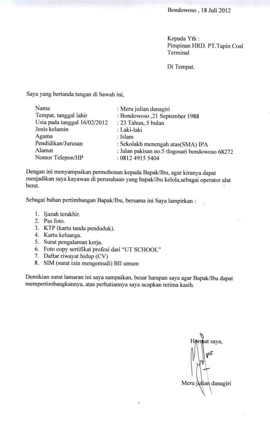 7. Contoh Surat Referensi Kerja Untuk Fresh Graduate