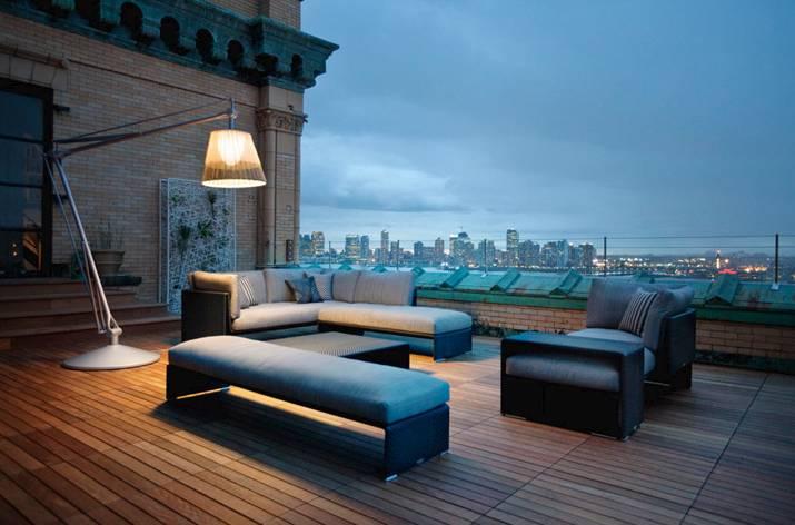 OutdoorGartenlampe Dedon Flos moderne Dachterrassen Gestaltung  Suraya Baumeister