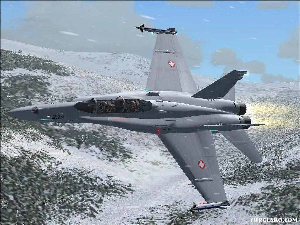 FS2004 Swiss F18 In The Snow 7190 SurClaro Photos