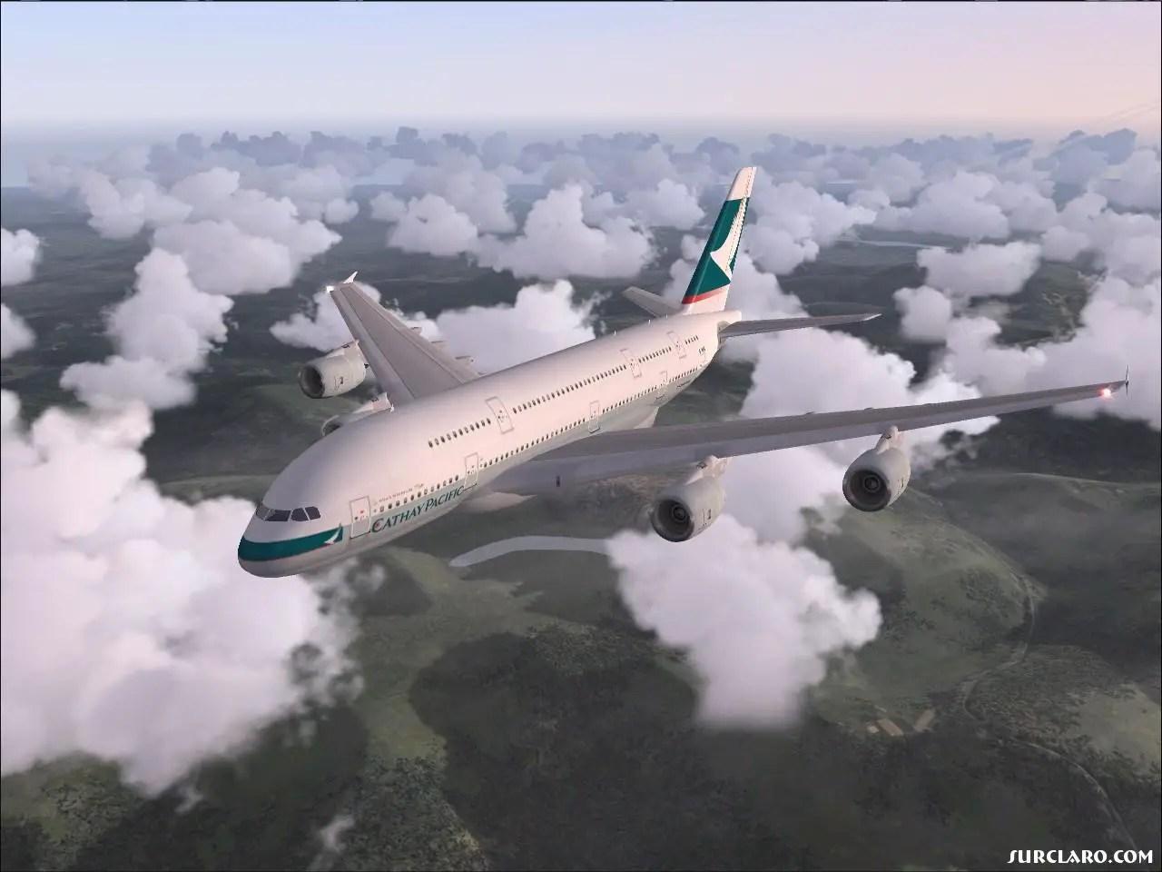 FS2004 Cathay Pacific A380800 8099 SurClaro Photos