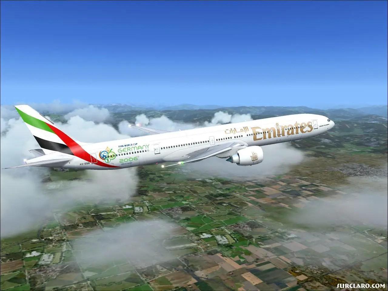 FS2004 Emirates FIFA 2006 Germany 777 300LR 14474