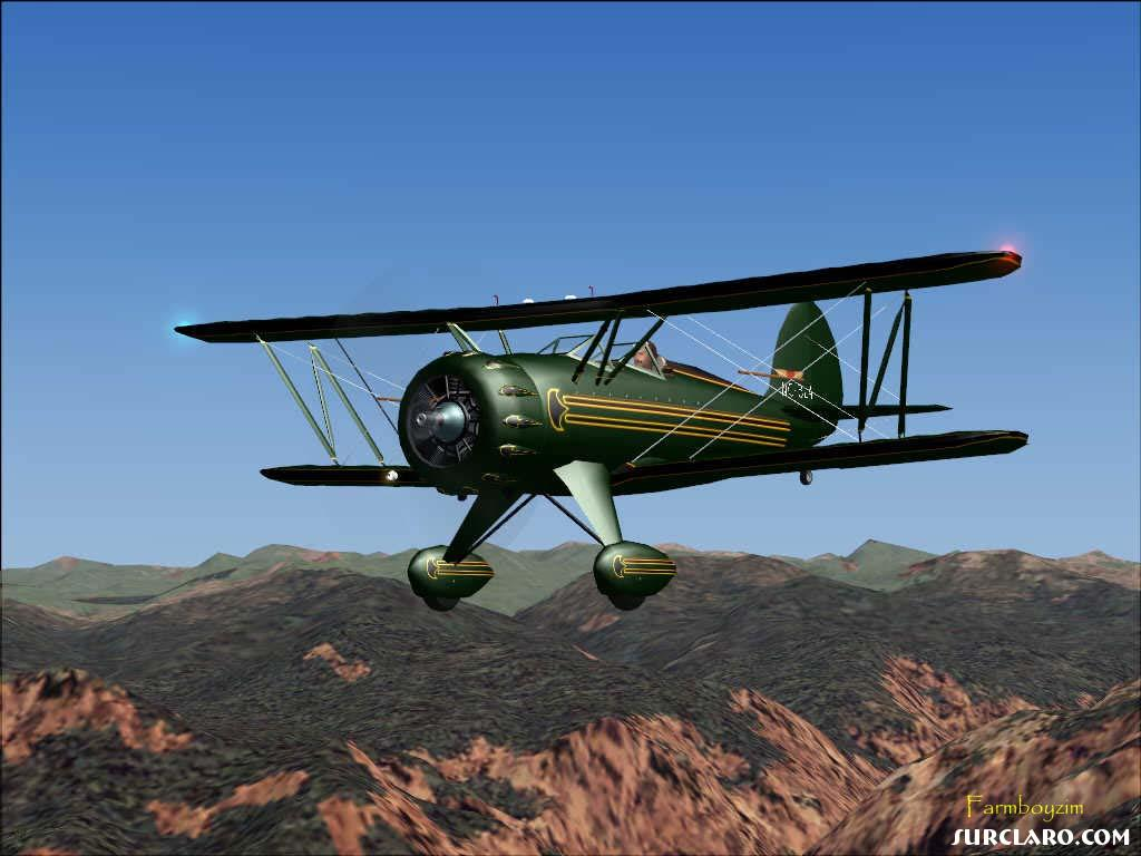 Daily New Hd Wallpaper Fs2004 Waco Classic Air 10512 Surclaro Photos
