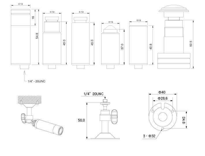 KPC-E190UB Bullet Camera 3.6mm 1/3
