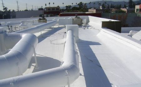 Hollywood Art Studio Roof After SureCoat Roof System Application