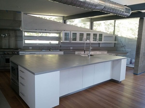 large kitchen island remodelers concrete