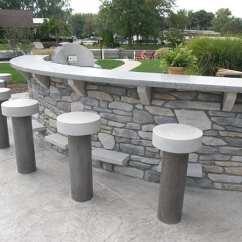 Outdoor Kitchen Bar Table Top Concrete