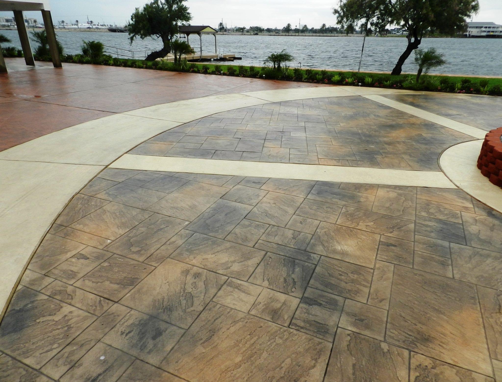 Galveston Stamped Concrete Driveway  Surecrete Products
