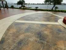 Galveston Stamped Concrete Driveway - Surecrete Products