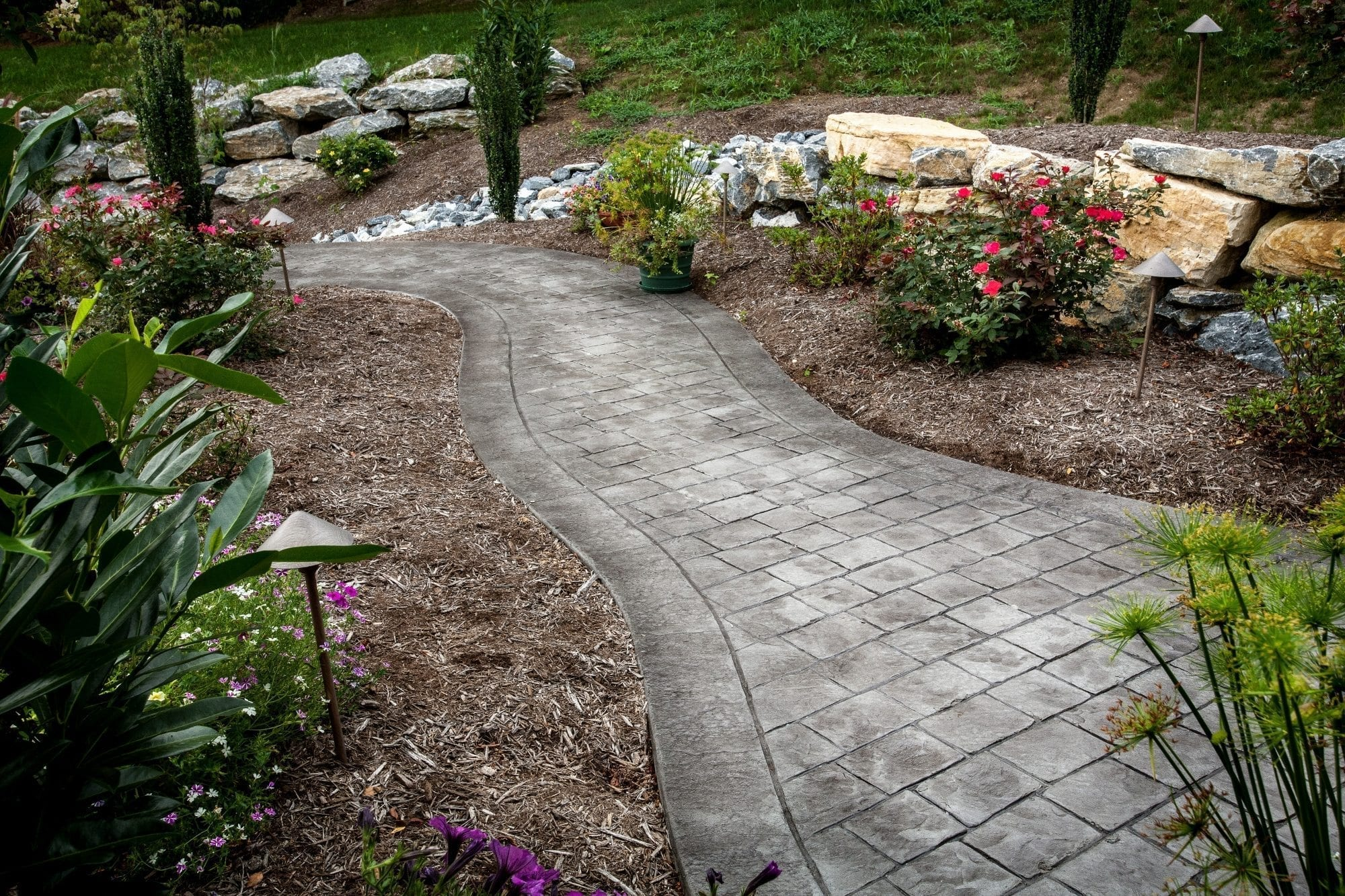 No Color Stamped Concrete Added