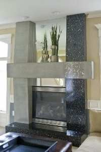 Custom Terrazzo Fireplace Surround Reflects Changing ...