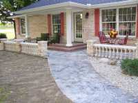 Concrete Front Porch Makeover - Baluster & Floor Designs