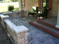 Concrete Front Porch Makeover - Baluster & Floor Designs
