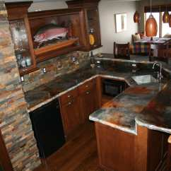 Concrete Kitchen Countertops Pantries For How To Stain A Counter Top  Using Eco