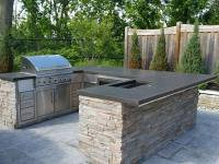 Outdoor Kitchen Concrete Bar Top Design - Surecrete Products