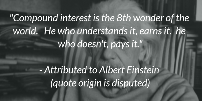 Einstein Compound Interest Quote Dividends Growth Stocks
