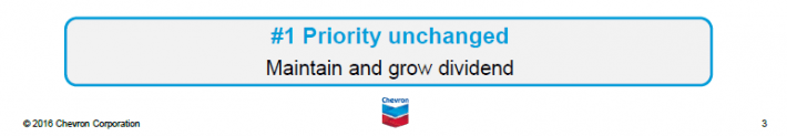 Chevron Dividend Committment