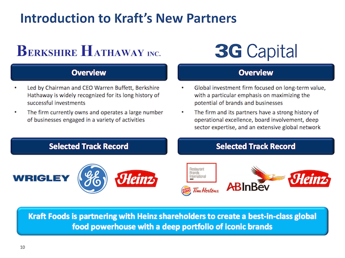 KHC Introduction to Kraft's New Partners