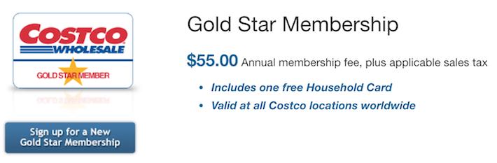 COST Costco Gold Star Membership