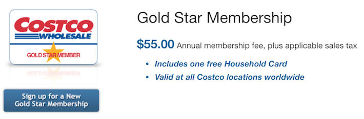 COST Costco Gold Star Membership