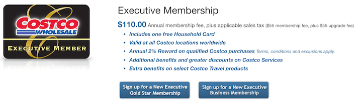 COST Costco Wholesale Executive Membership