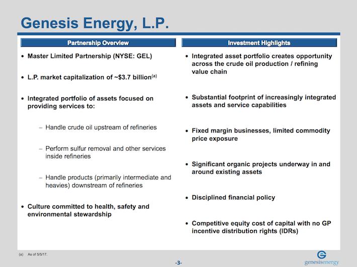 GEL Genesis Energy Business Overview