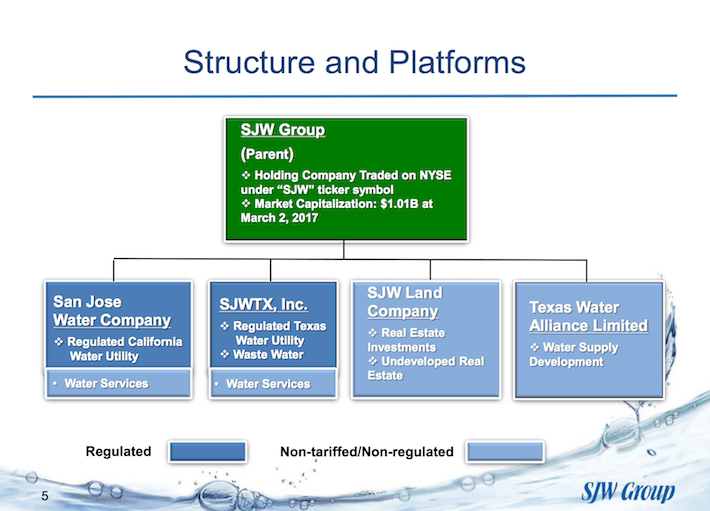 SJW Group Structure and Platforms
