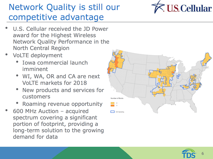 TDS Telephone & Data Network Quality Is Still Our Competitive Advantage