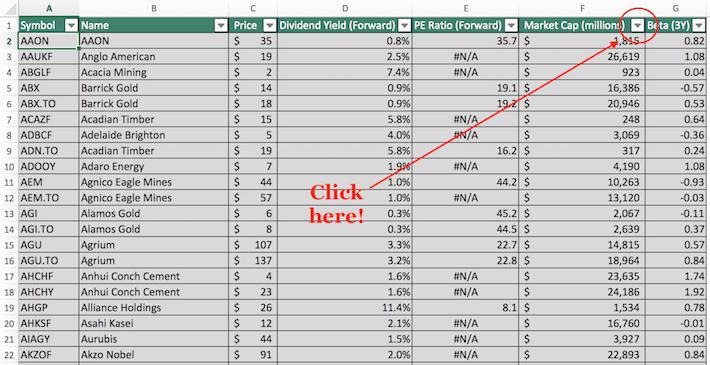 Materials Stocks Excel Tutorial 4