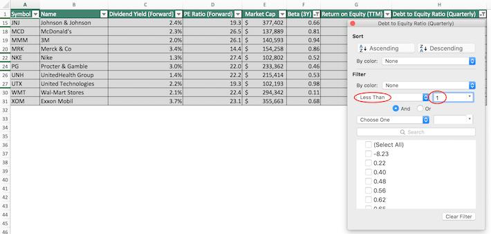 Dow Jones Excel Tutorial 8