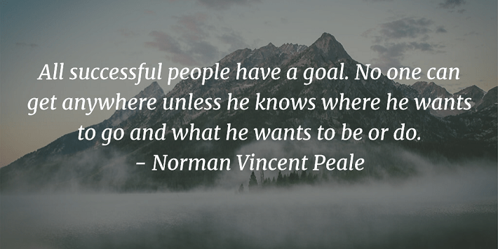 All Successful People Have a Goal