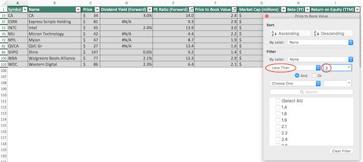 NASDAQ 100 Stocks Excel Tutorial 4