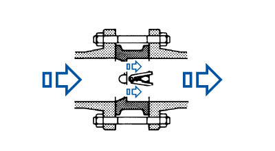 dual plate wafer check valve schematic