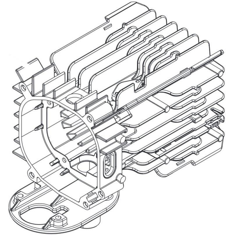 1302805A Heat Exchanger Webasto Air Top 2000ST/C Repair Part