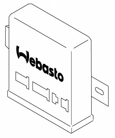 243-75A Control Box, 12 Volt Webasto Thermo 90 Repair Part