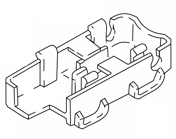 386-38B Connector Housing Webasto Thermo 90 / Thermo 90S