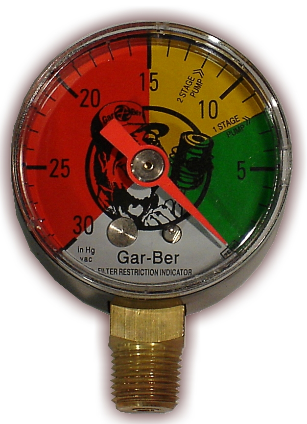 Gar Ber Fri Vacuum Gauge Fuel Restriction Indicator