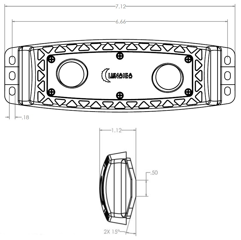 LLB-472W-21-10 Spreader LED Light, White by LunaSea